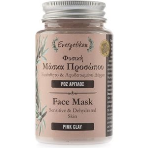 Face mask with pink clay for sensitive & dehydrated skin 90gr < Face mask