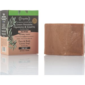Pink clay soap for sensitive skin 120-140gr < Cleansing & Tonification