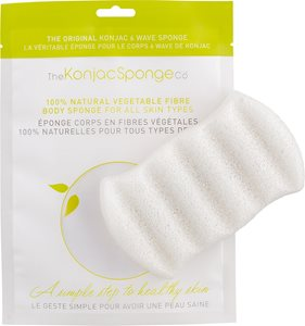 6 Wave Body Sponge Pure White < Bath amenities