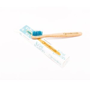 Kids Bamboo Toothbrush with Blue Bristles < Kids care