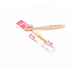 Kids Bamboo Toothbrush with Pink Bristles < Kids care
