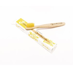 Kids Bamboo Toothbrush with Yellow Bristles < Oral care