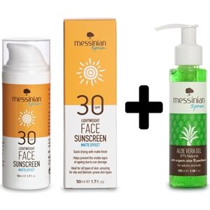 FACE SUNSCREEN MATTE EFFECT SPF30 50ml+GIFT Aloe Vera soothing gel 100ml < Face suncare