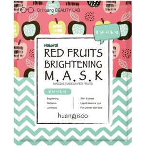 Red Fruit Brightening Sheet Face Mask 5x25ml < ORGANIC PRODUCTS