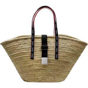 Big straw bag with black strap < Accessories & candles