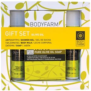 OLIVE OIL MINI GIFT SET FOR BODY 50ml+50ml+150gr < Travel kit