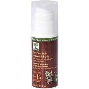 Olive sun milk for face & body SPF15 100ml < Body suncare
