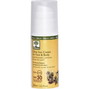 Olive sun cream for face & body SPF30 100ml < Face suncare
